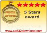 Simply Postcode Lookup  5 stars award